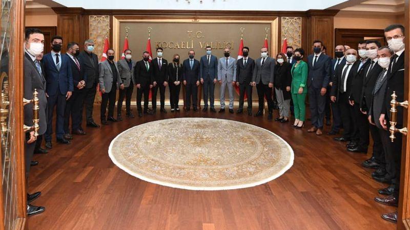 MHP'nin yeni yönetimi valiye gitti