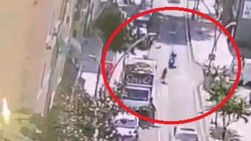 İzmit'te karşıdan karşıya geçmek isteyen kadına motosiklet çarptı