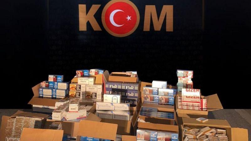 Kocaeli'de 180 Bin kaçak makaron ele geçirildi