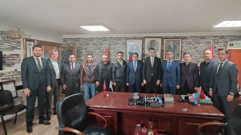 Türkiye Kamu-Sen'den MHP İl Başkanı Kurt'a ziyaret