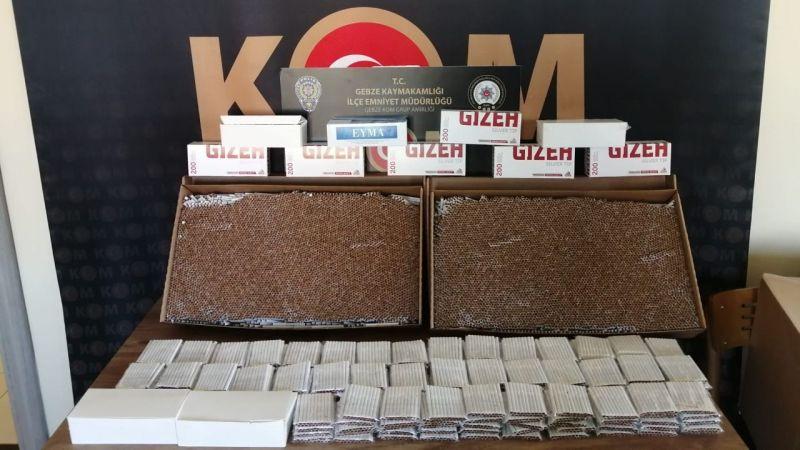 Kocaeli'de 16 bin 200 adet kaçak makaron bulundu!