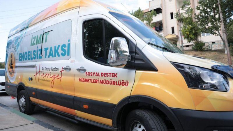 İzmit'te bir ilk! Engelsiz taksi hizmeti