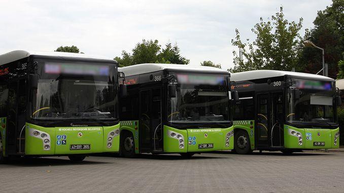 Başiskele'de öğrenciler için 3  yeni toplu ulaşım hattı kuruldu