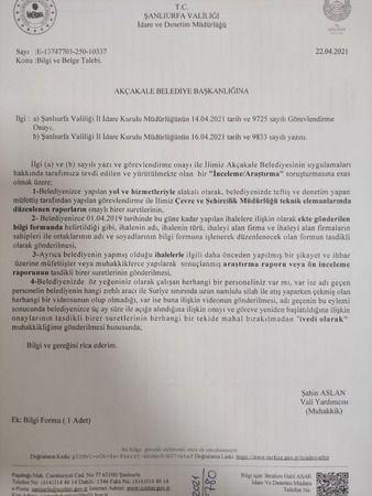 FLAŞ! Urfa'da valilik, belediye için soruşturma başlattı