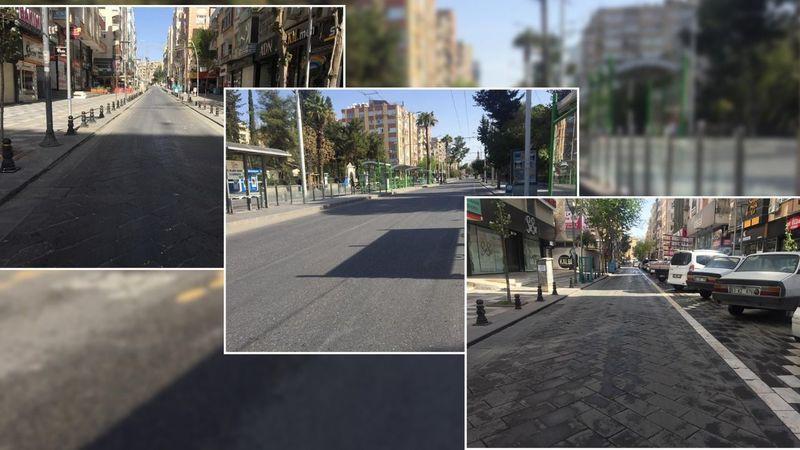 Urfa'da cadde ve sokaklar boş kaldı!