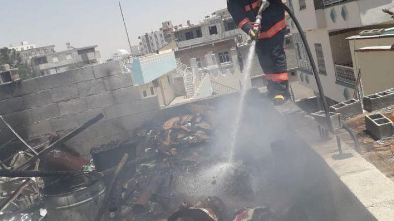 Urfa'da bir evin odunluğunda yangın çıktı!
