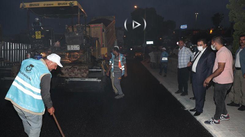 Canpolat asfalt çalışmalarını inceledi