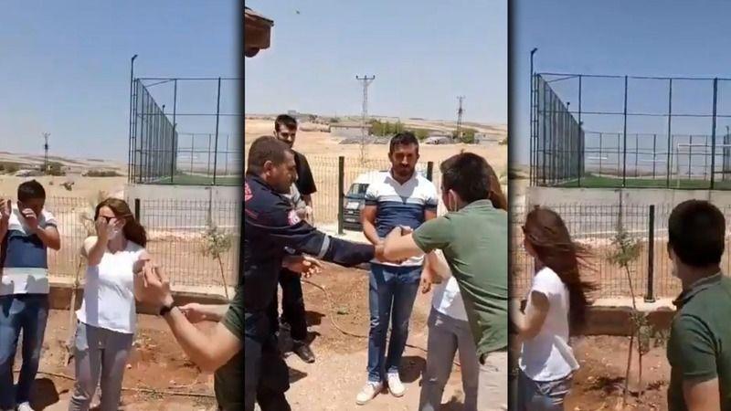 İtfaiye müdahale etti: Urfa'da sıkıştığı yerde dakikalarca çırpındı!