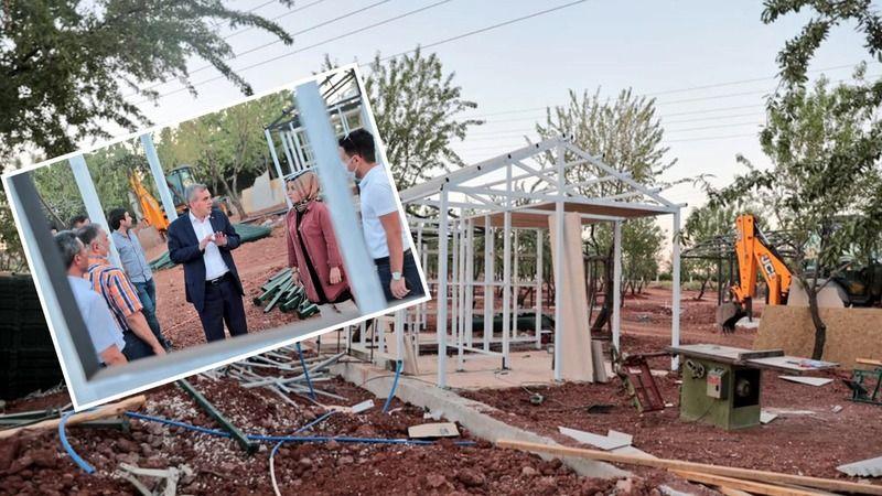 Hobi bahçesinin inşaatı sürüyor!
