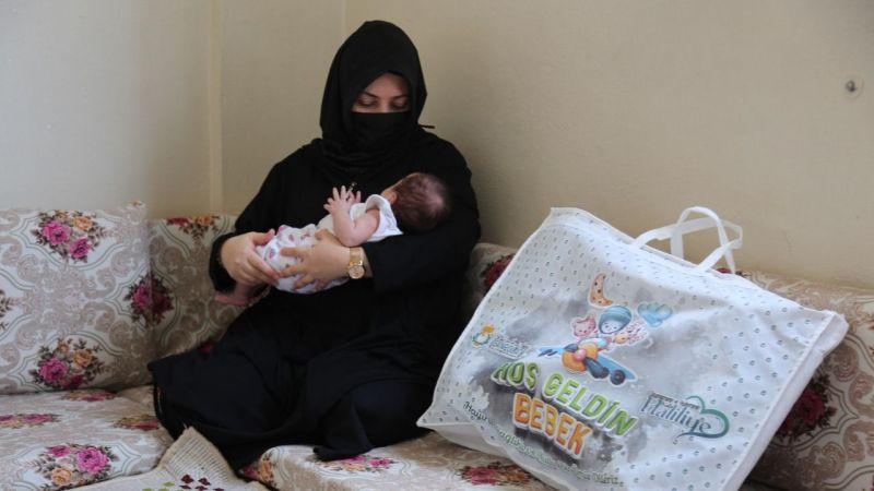 Haliliye'de 'merhaba bebek' hediyesi!