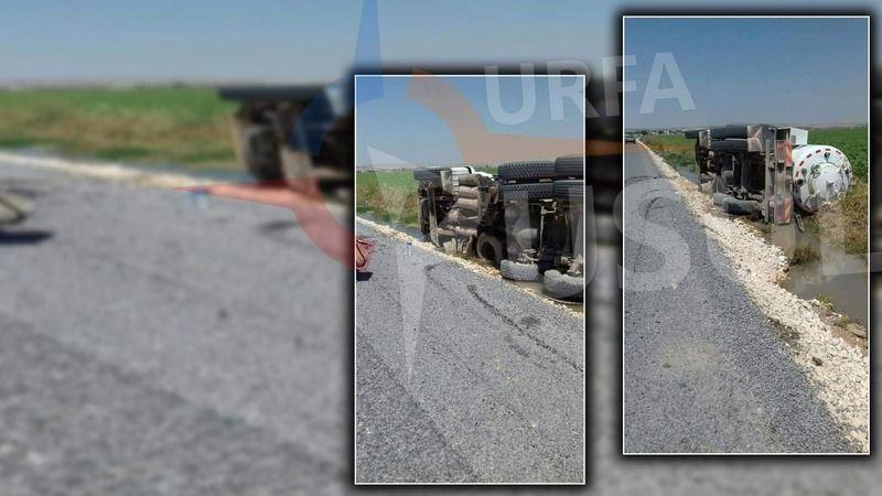 Urfa'da  kaza: ŞUSKİ'ye ait araç sulama kanalına devrildi!