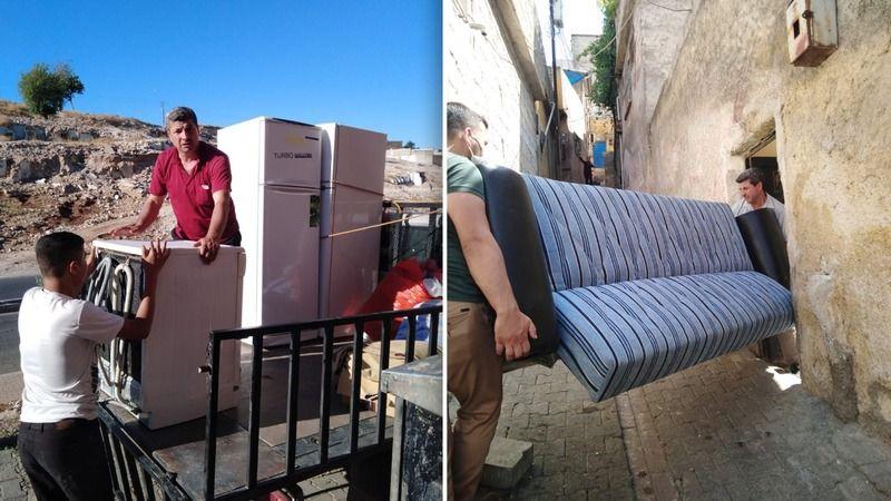 Eyyübiye'de yardımlar devam ediyor