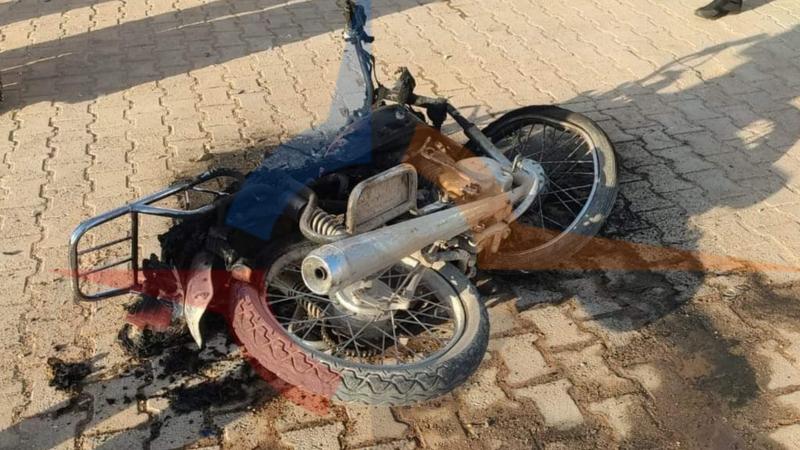 Urfa'da motosiklet kazası! Yanarak kül oldu