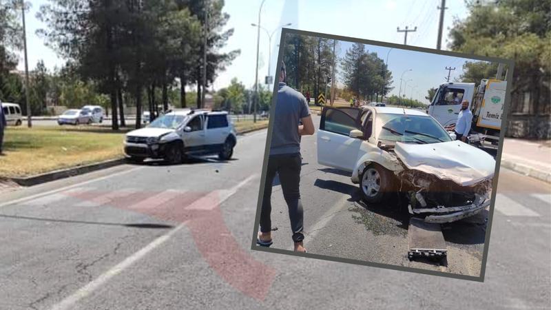 Viranşehir'deki caminin önünde kaza!