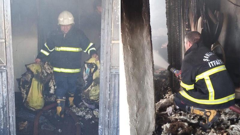 Urfa'nın ilçesindeki yangın hasara neden oldu!