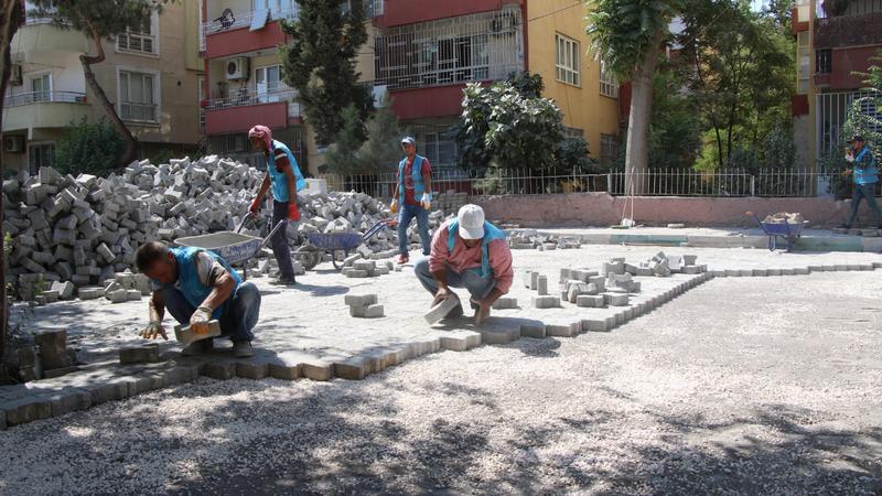 Haliliye'de parke çalışmaları sürüyor