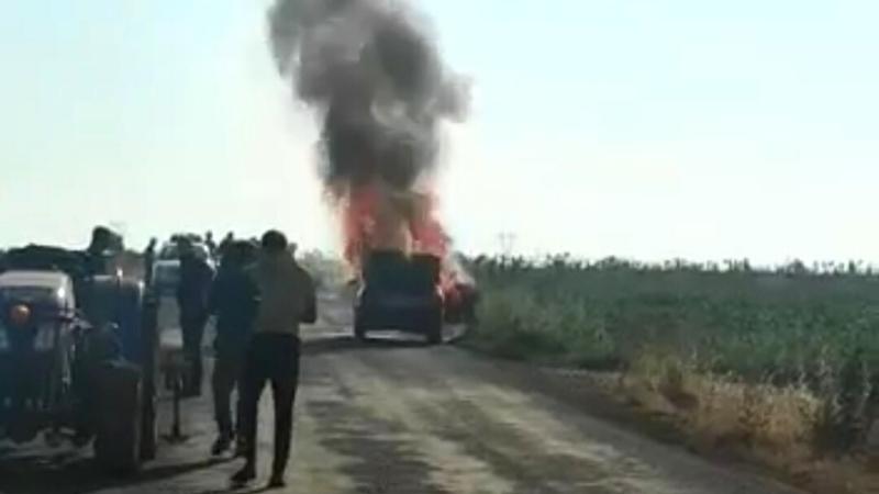 Sabah sabah korkutan olay: Urfa'da cayır cayır yandı!