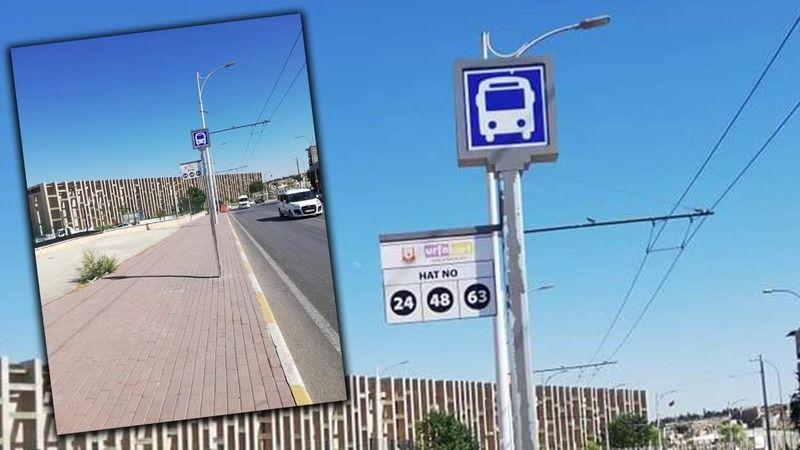 Burası Şanlıurfa'da bir otobüs durağı!