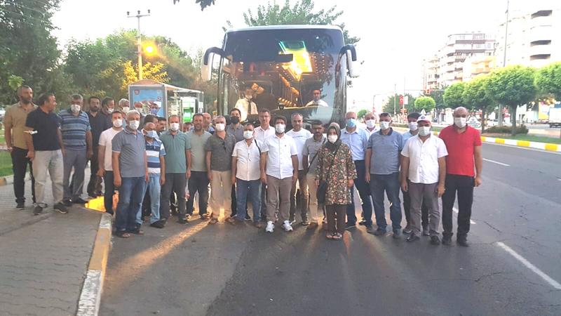 Urfa'daki memurlar eylem için Ankara yolunda!
