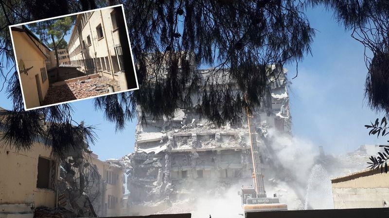 Atıl durumdaki hastane binasının yıkımına başlandı!