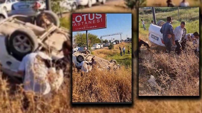 Yaralılar var: Urfa'da kontrolden çıkan araç şarampole uçtu!
