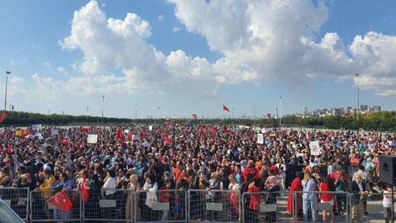 Aşı karşıtları İstanbul'da miting yaptı! Küreselcilere karşı beraberiz!
