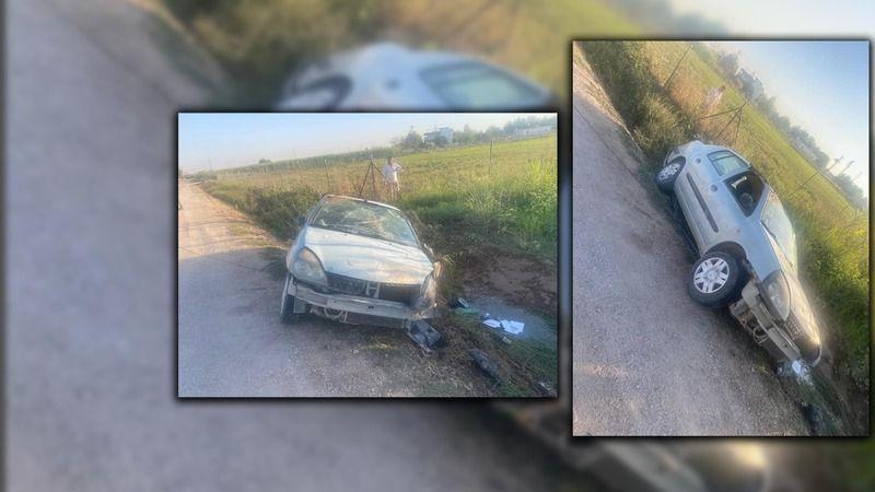 Urfa'da bir otomobil şarampole uçtu!