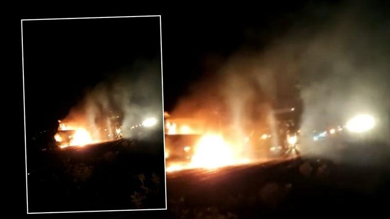 Urfa'da kaza: Araç alev topuna döndü!