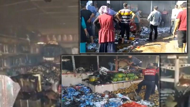 Bu kez yandı: Urfa'daki markette yine olay!