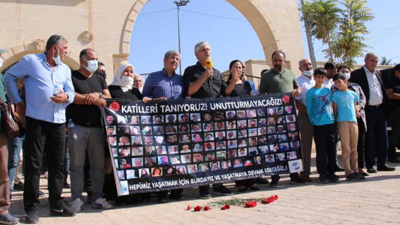 Şanlıurfa'da 10 Ekim açıklaması: 'Unutmayacağız, affetmeyeceğiz'