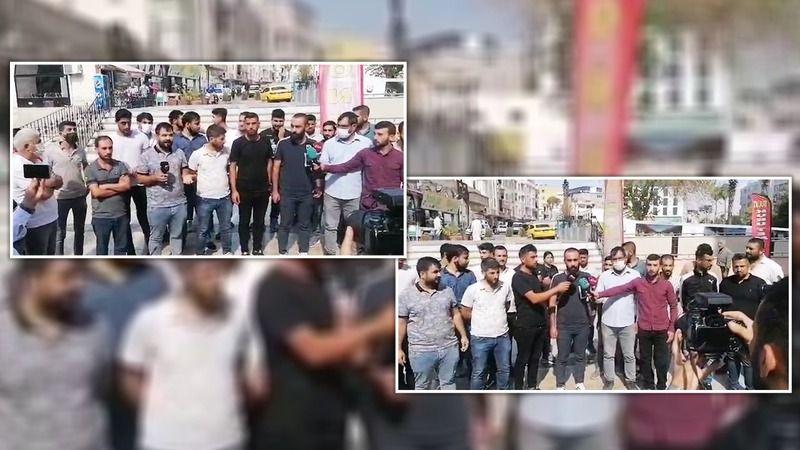 Urfa'da ortada kalan işçiler eylem yaptı!