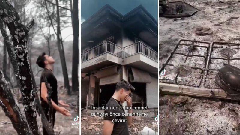 TikTok Fenomeni Cellat'ın Yangın Videosu Büyük Tepki Topladı!