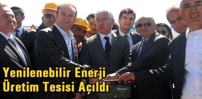 Yenilenebilir enerji üretim tesisi açıldı
