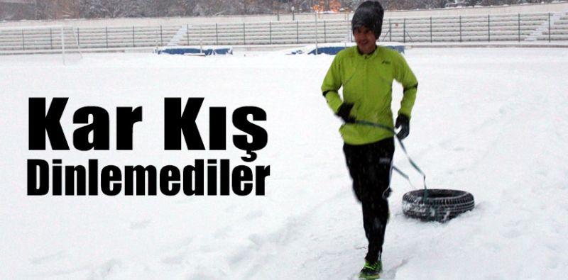 Atletler Kar Kış Dinlemedi!