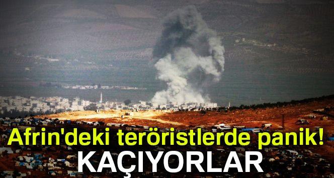 Afrin'deki teröristlerde panik! Kaçıyorlar