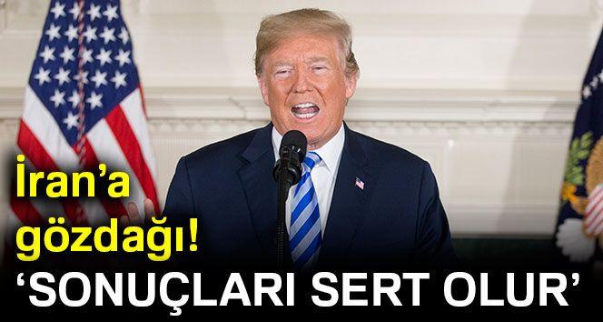 """Trump: """"İran nükleer anlaşmalara başlarsa sonuçları sert olur"""""""