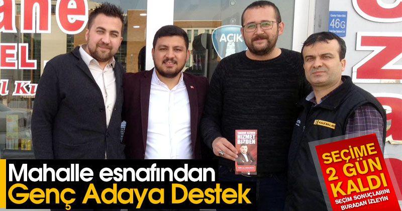Mahalle esnafından Aşır Ali Erduran'a destek
