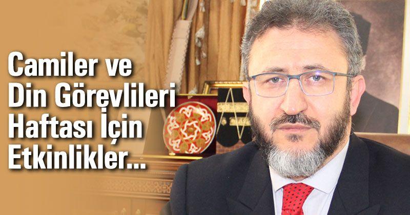 Karaman'da Camiler ve Din Görevlileri Haftası İçin Etkinlikler...