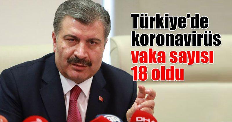 Türkiye'de koronavirüs vaka sayısı 18 oldu...