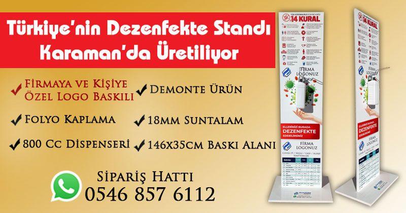 Türkiye'nin Dezenfekte Standı Karaman'da Üretiliyor