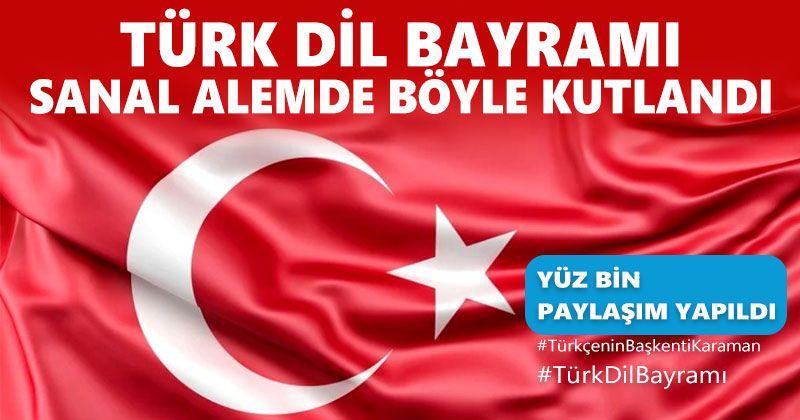 Türk Dil Bayramı Sanal Alemde Kutlandı