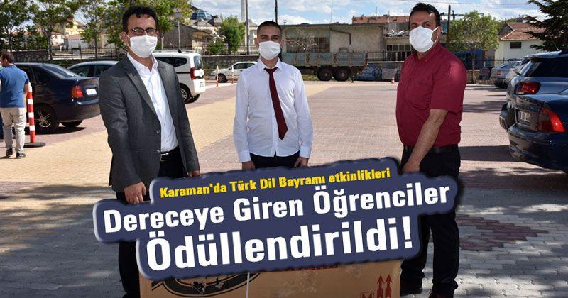 """""""Daima Türkçe"""" Diyen Öğrenciler Ödüllerini Aldılar"""