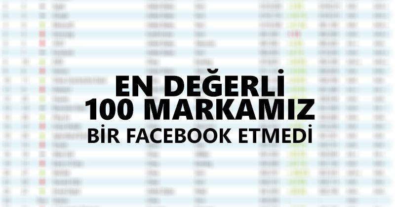 EN DEĞERLİ 100 FİRMAMIZ BİR FACEBOOK ETMEDİ