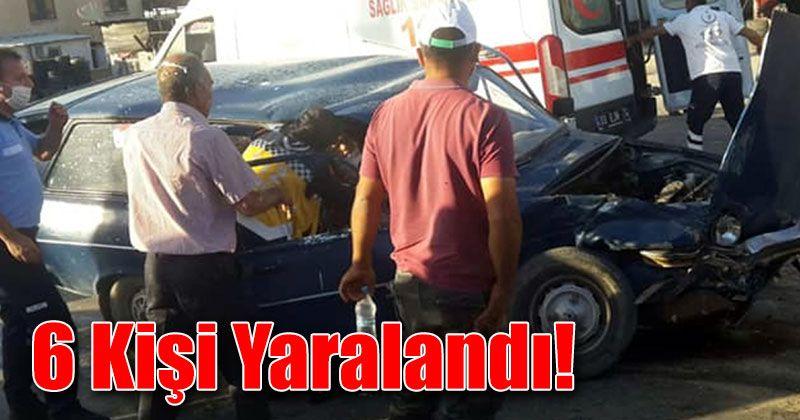 Otomobil kamyonetle çarpıştı: 6 yaralı!