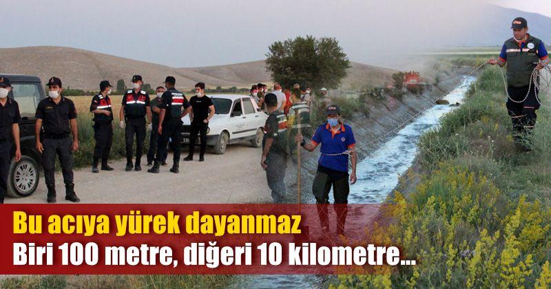 Karaman'da sulama kanalına düşen kardeşler öldü