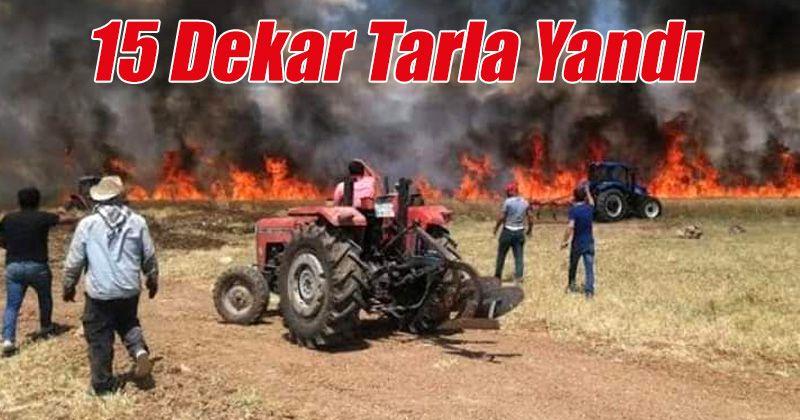 Karaman'da 15 dekarlık buğday tarlası yandı