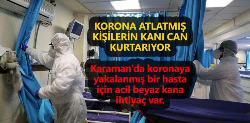 Koronaya yakalanmış bir hasta için acil beyaz kana ihtiyaç var