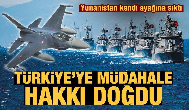 Yunanistan kendi ayağına sıktı! Türkiye'ye müdahale hakkı doğdu