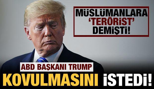 Trump, Müslümanlara 'terörist' diyen sunucunun kovulmasını istedi