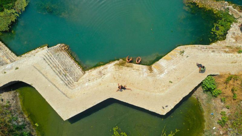 Tarihi değirmenin set olduğu Zikir Gölü, ziyaretçilerini cezbediyor